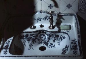 Handwaschbecken im WC